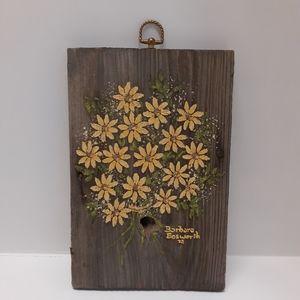Vintage 1972 handmade wood wall art